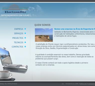 Snapshot website Horizonbiz.pt